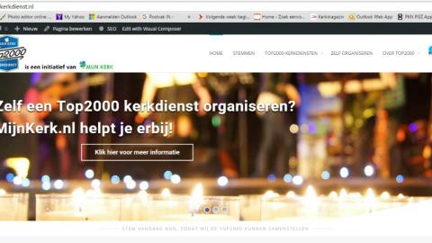 Nu live: www.top2000kerkdienst.nl