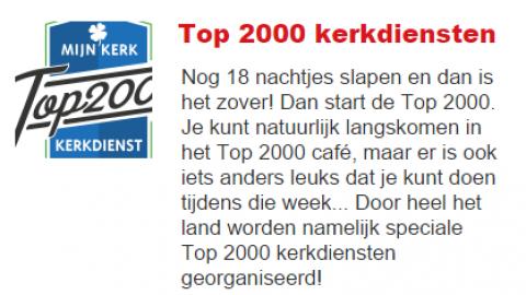 Top2000kerkdienst.nl interview bij Wout2day van Radio2